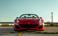 Red Ferrari California front view wallpaper 2560x1600 jpg