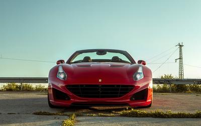 Red Ferrari California front view wallpaper
