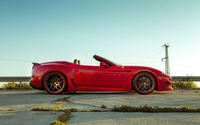Red Ferrari California parked wallpaper 2560x1600 jpg