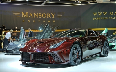 Red Ferrari F12berlinetta at Mansory Couture wallpaper