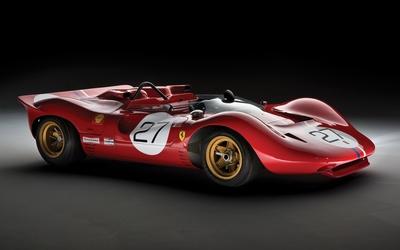 Red Ferrari P side view wallpaper