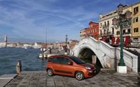 Red Fiat Panda in Venice wallpaper 2560x1600 jpg