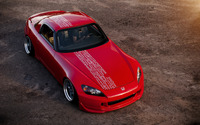 Red Honda S2000 front top view wallpaper 1920x1200 jpg