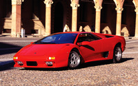 Red Lamborghini Diablo wallpaper 1920x1200 jpg