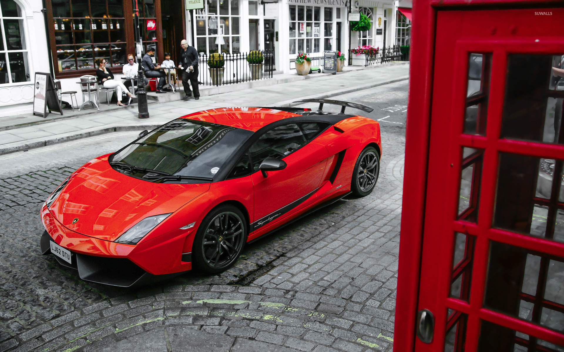 Red Lamborghini Gallardo Superleggera top view wallpaper ... Red Lamborghini Gallardo Wallpaper