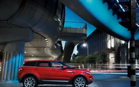 Red Land Rover Range Rover Evoque under a bridge wallpaper 1920x1080 jpg
