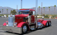 Red Peterbilt truck wallpaper 2560x1600 jpg