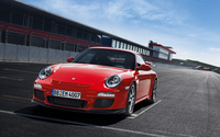 Red Porsche 911 at the start line wallpaper 2560x1600 jpg