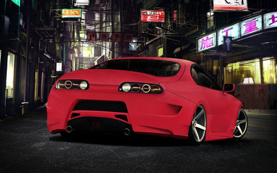 Red Toyota Supra wallpaper