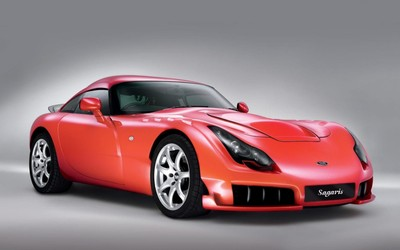 Red TVR Sagaris front view wallpaper