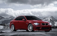 Red Vossen BMW 3 Series front side view wallpaper 1920x1080 jpg