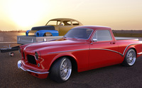 Red Zolland Design Volvo Amazon side view wallpaper 2560x1440 jpg
