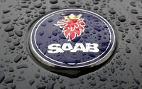 Saab logo wallpaper 1920x1080 jpg
