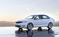 Side view of a 2013 Skoda Rapid wallpaper 1920x1080 jpg
