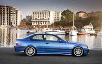 Side view of a blue BMW M3 wallpaper 2880x1800 jpg