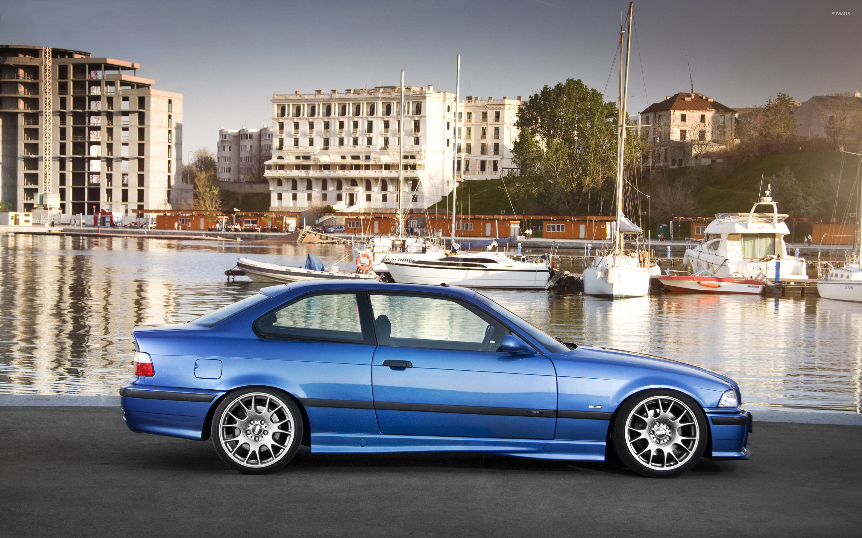 Side view of a blue BMW M3 wallpaper - Car wallpapers - #51376