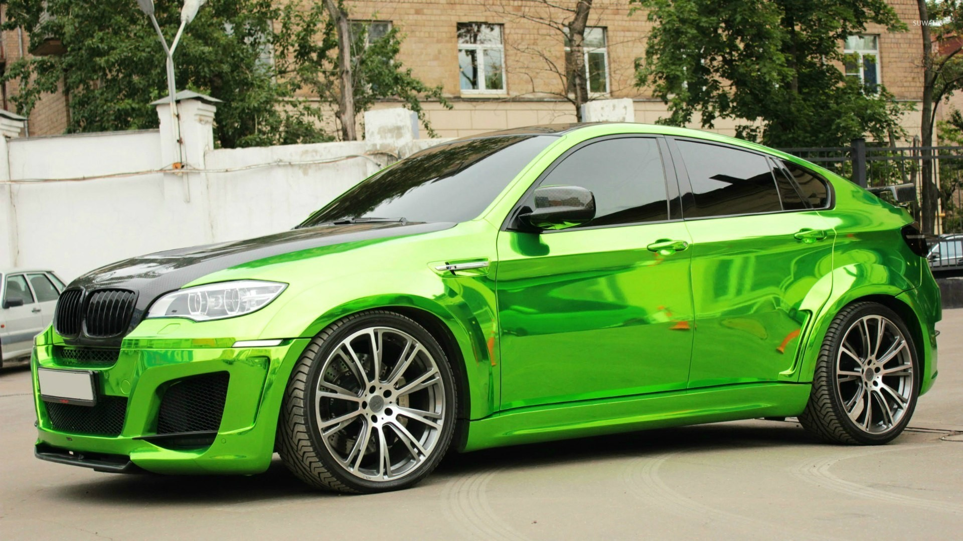 Side View Of A Green Bmw X6 Wallpaper Car Wallpapers 52436