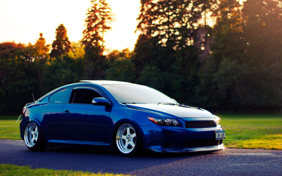 Side view of a Scion tC Wallpaper