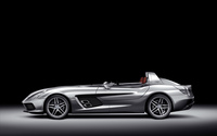 Side view of a silver Mercedes-Benz SLR McLaren wallpaper 1920x1200 jpg