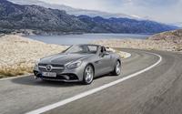 Silver 2016 Mercedes-Benz SLC 300 front side view wallpaper 3840x2160 jpg