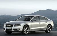 Silver Audi A5 front side view wallpaper 1920x1200 jpg
