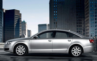 Silver Audi A6 side view wallpaper 1920x1200 jpg