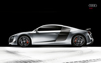 Silver Audi R8 side view wallpaper 2560x1600 jpg