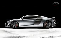 Silver Audi R8 side view wallpaper 2560x1600 jpg