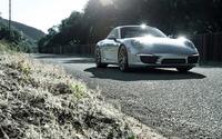 Silver Boden Porsche 911 Carrera S front view wallpaper 1920x1080 jpg