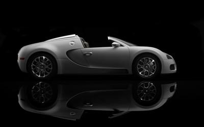 Silver Bugatti Veyron wallpaper