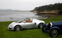 Silver Bugatti Veyron side view wallpaper 2880x1800 jpg