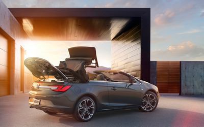 Silver Buick Cascada convertible wallpaper