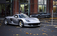 Silver Edo Competition Porsche Carrera GT front side view wallpaper 1920x1200 jpg