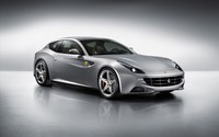 Silver Ferrari FF in a studio wallpaper 1920x1200 jpg