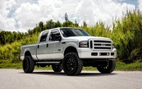 Silver Ford Super Duty front side view wallpaper 1920x1200 jpg