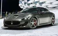 Silver Maserati GranTurismo wallpaper 1920x1200 jpg