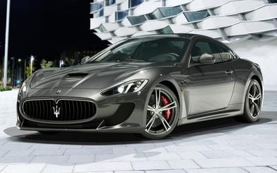 Silver Maserati GranTurismo wallpaper