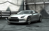 Silver Nissan GT-R front side view wallpaper 2560x1440 jpg