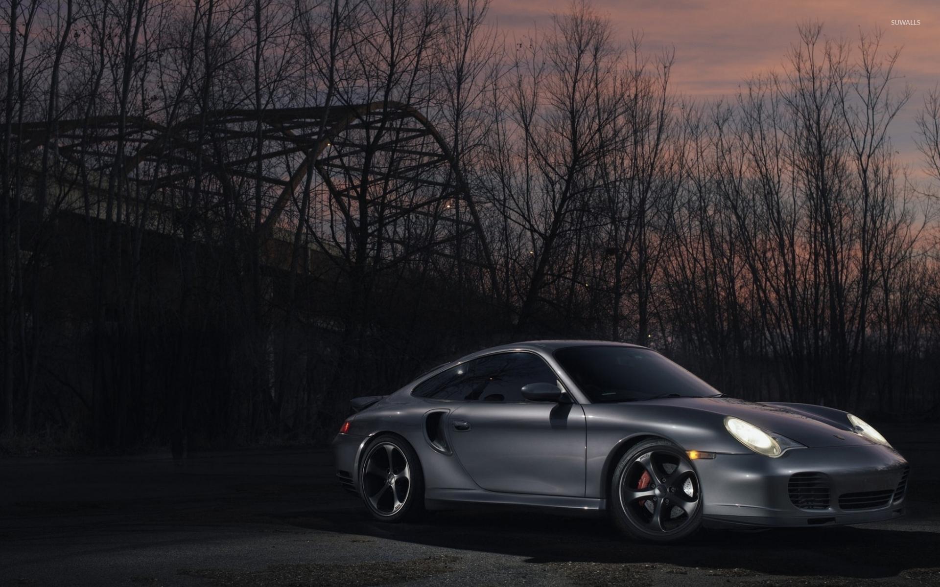 Silver Porsche 911 At Sunset Wallpaper Car Wallpapers