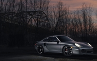 Silver Porsche 911 at sunset wallpaper 1920x1200 jpg