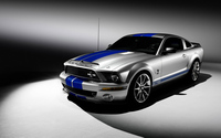 Silver Shelby Mustang GT500KR front side view wallpaper 1920x1200 jpg