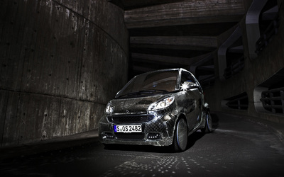 Silver sparkly Smart Fortwo wallpaper
