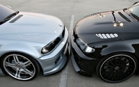 Silver vs black BMW M3 wallpaper 1920x1080 jpg