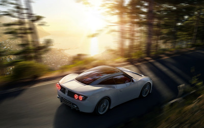 Spyker B6 Venator in the forest wallpaper
