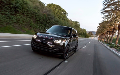 STRUT Land Rover Range Rover on the road front view wallpaper