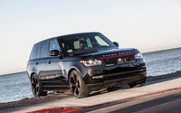 STRUT Land Rover Range Rover parked near the ocean wallpaper 2560x1600 jpg