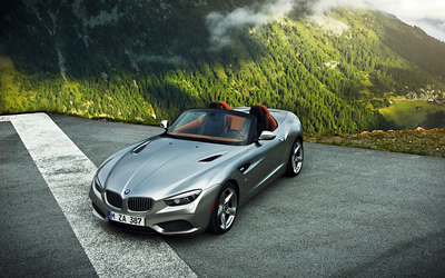 Top view of a 2015 BMW Z4 wallpaper