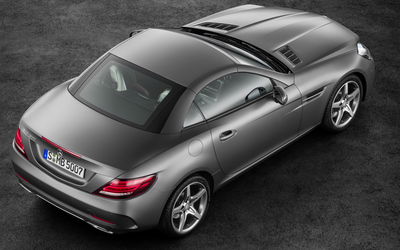 Top view of a 2016 Mercedes-Benz SLC 300 wallpaper