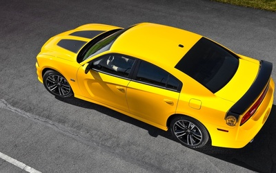 Top view of a Dodge Charger Super Bee wallpaper