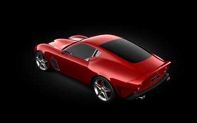 Top view of a Ferrari 250 GTO wallpaper